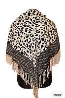 Черно-белый леопардовый кашемировый платок