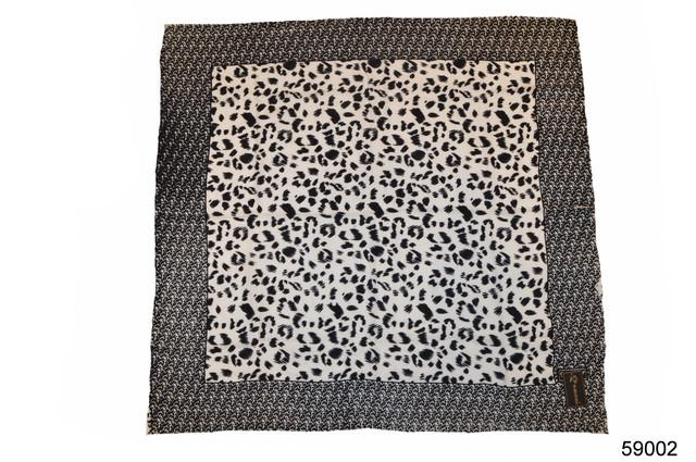 Черно-белый леопардовый кашемировый платок 2