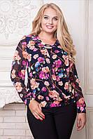 Блуза больших размеров Флорина 52,54,56,58,60р