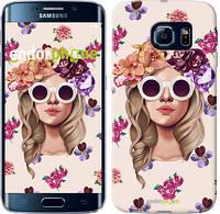 "Чехол на Samsung Galaxy S6 Edge G925F Девушка с цветами v2 ""3569c-83"""