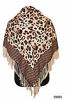 Купить коричневый леопардовый кашемировый платок