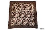 Коричневый леопардовый кашемировый платок, фото 2
