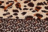 Коричневый леопардовый кашемировый платок, фото 3