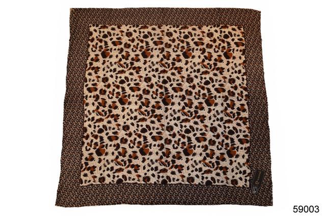 Коричневый леопардовый кашемировый платок 2