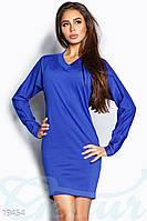 Корректирующее свободное платье. Цвет синий электрик.