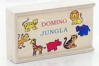 Деревянное домино Животные джунглей