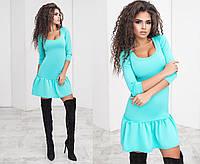 Трикотажное платье с воланом