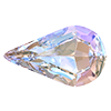 Капли в цапах Preciosa (Чехия) Crystal AB/серебро