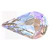Капли в цапах Preciosa (Чехия) 10х6 мм Crystal AB/серебро