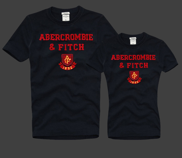 Abercrombie & Fitch Женские и Мужские футболки 100% хлопок