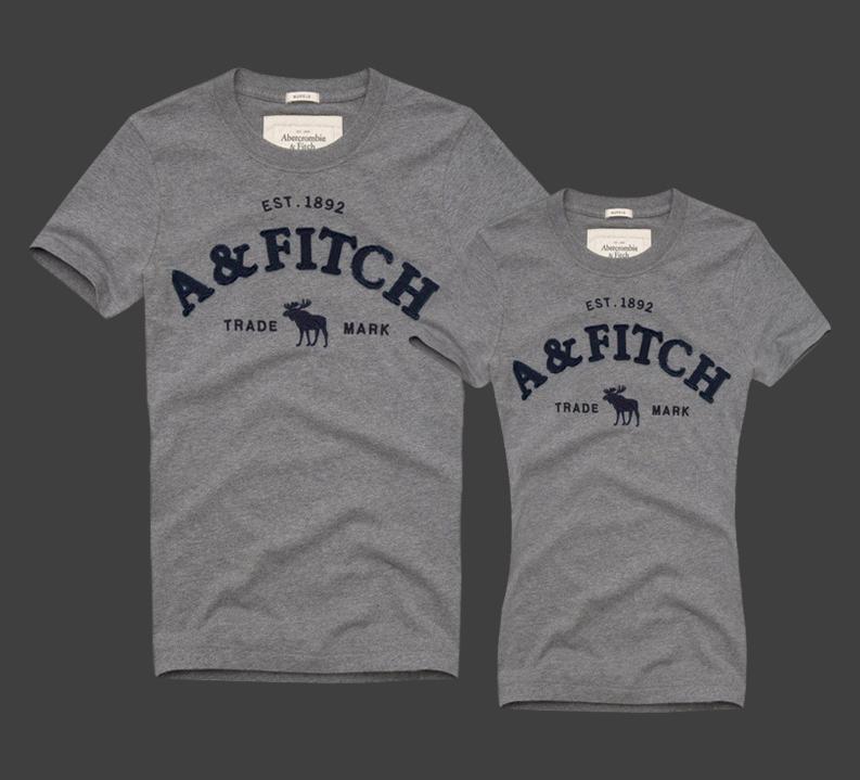 Abercrombie & Fitch original Женские и Мужские футболки 100% хлопок