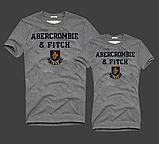 Женские и Мужские футболки 100% хлопок A&F, фото 9
