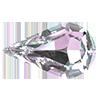 Капли в цапах Preciosa (Чехия) 10х6 мм Crystal Vitrail Light/серебро