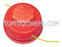 Косильная головка для триммеров красная, быстрая намотка лески