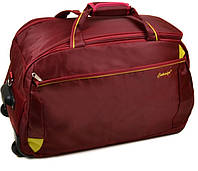 Дорожная Сумка на колесах нейлон   22838-24in bordo.Купить дорожную сумку саквояж недорого.