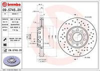 Тормозной диск передний Brembo 09.5745.2X для Audi A4 (8D2, B5) 10.1996-11.2000