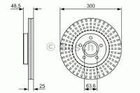Тормозной диск передний Bosch 986479956 для Ford Focus Iii 07.2010+