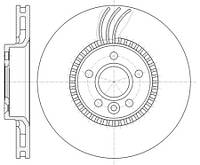 Тормозной диск передний Roadhouse RH 61280.10 для Volvo V60 04.2011-12.2015