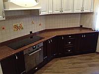 Гранитная столешница ( Лезники ) с не стандартной геометрией кухни, фото 1