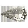 Капли в цапах Preciosa (Чехия) 10х6 мм Black Diamond/серебро