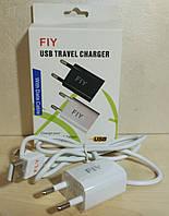 Зарядное устройство USB - microUSB (адаптер+кабель) FIY