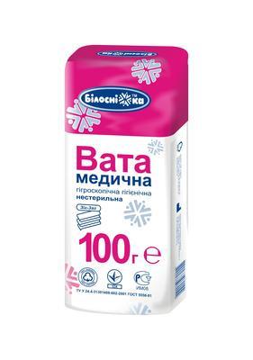 Вата медична гігієнічна 100 гр