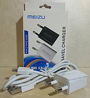 """Зарядное устройство USB - microUSB """"MEIZU"""" (адаптер+кабель)"""