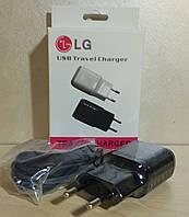 """Зарядное устройство USB - microUSB """"LG"""" (адаптер+кабель)"""