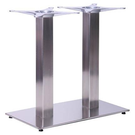 Опора для стола Афина Двойная (Double SB-SR58S) Нержавейка (AMF-ТМ), фото 2