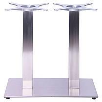 Опора для стола Афина Двойная (Double SB-SR58S) Нержавейка (AMF-ТМ), фото 3