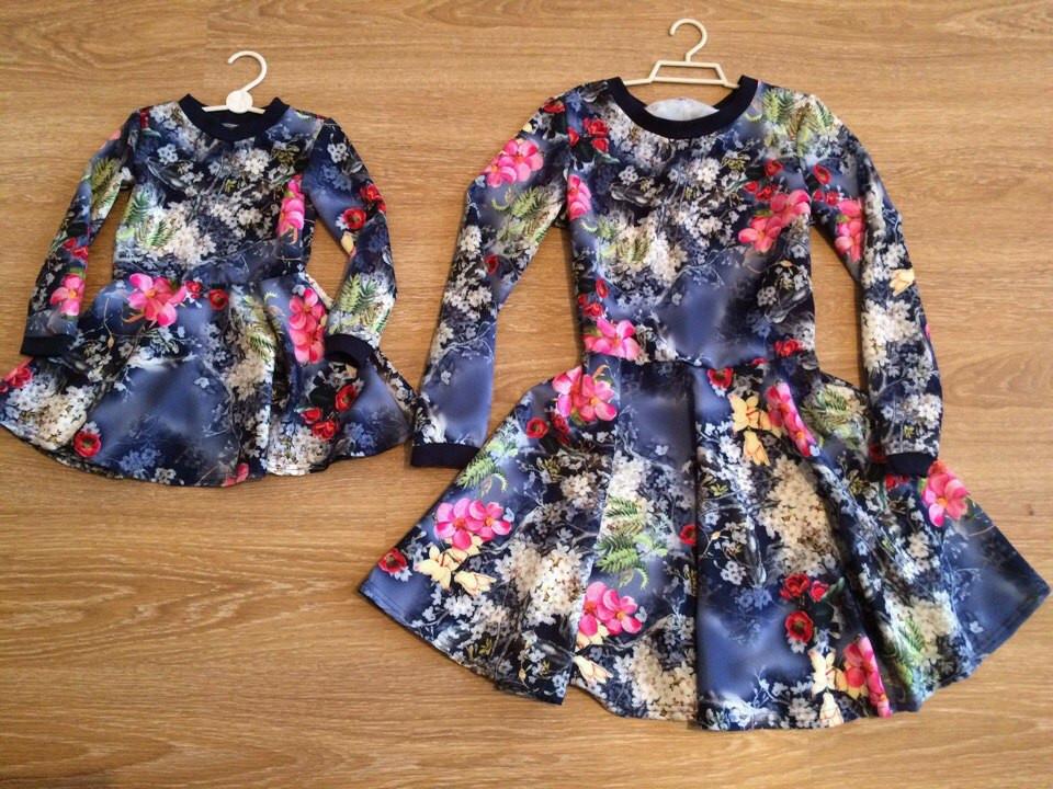 1eeeb4a77151 Красивые платья для мамы и дочки в комплекте