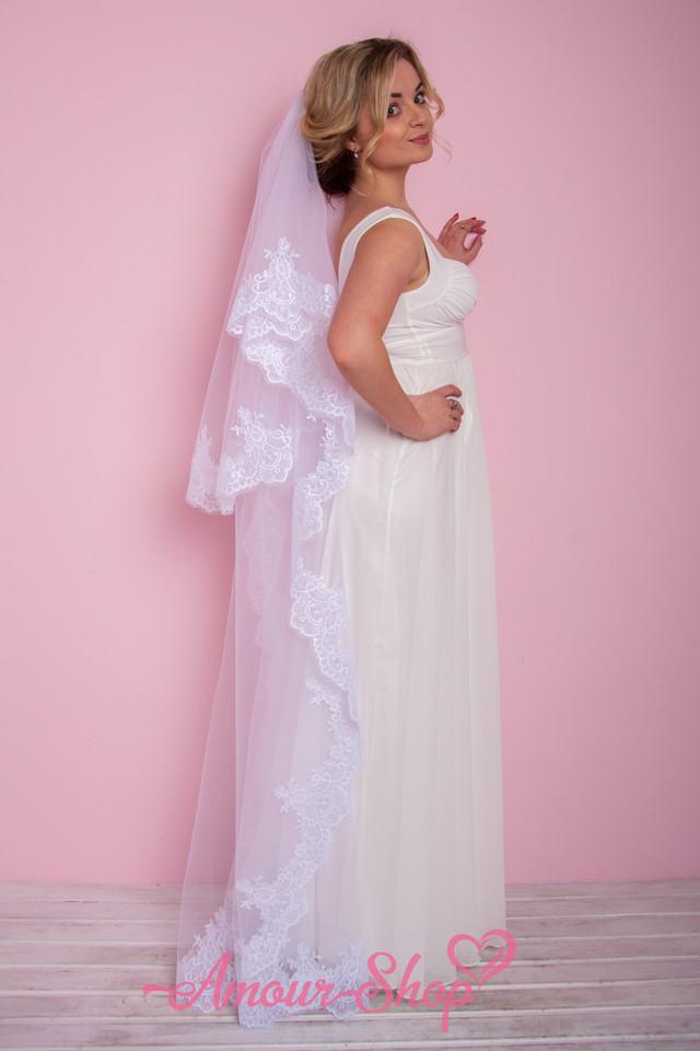 фата невесты белая венчальная, кафедральная