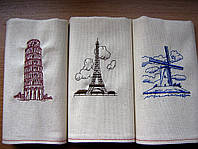 Париж, льняные полотенца для подарка
