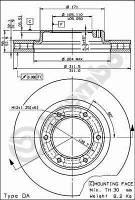 Тормозной диск передний Brembo 09.5914.10 для Toyota Land Cruiser 80 (J8) 01.1990-12.1997