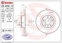 Тормозной диск задний Brembo 08.A456.10 для Peugeot Expert Фургон (Vf3A, Vf3U, Vf3X) 01.2007+