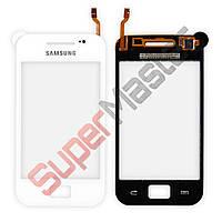 Тачскрин (сенсор) Samsung S5830i Galaxy Ace, большая микросхема, цвет белый