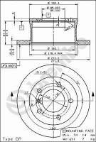 Тормозной диск задний Brembo 08.7725.10 для Mercedes G-Class (W461) 07.1997+