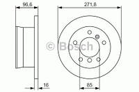 Тормозной диск Bosch 986479865 для Mercedes Sprinter 3-T Автобус (903) 08.2002-05.2006