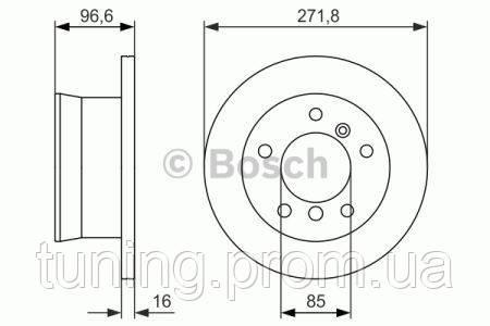 Тормозной диск Bosch 986479865 для Mercedes Sprinter 3-T Автобус (903) 08.2002-05.2006 - Tuning-Market.com.ua в Одессе