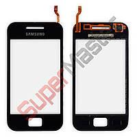 Тачскрин (сенсор) Samsung Galaxy Ace S5830i, маленькая микросхема, цвет черный