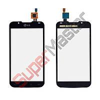 Тачскрин (сенсор) LG P715 Optimus L7 2, маленькая микросхема, цвет черный, на 2 sim карты