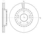 Тормозной диск передний Roadhouse RH 61434.10 для Kia Cee'D (Jd) 05.2012+