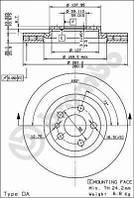 Тормозной диск передний Brembo 09.5180.24 для Fiat Scudo Фургон (220) 12.1999-12.2006