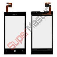 Тачскрин Nokia 520, 525 Lumia, цвет черный, копия высокого качества, маленькая микросхема
