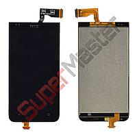 Дисплей HTC Desire 300 (301) с тачскрином в сборе, цвет черный
