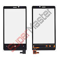 Тачскрин (сенсор) Nokia 920 Lumia, цвет черный, маленькая микросхема