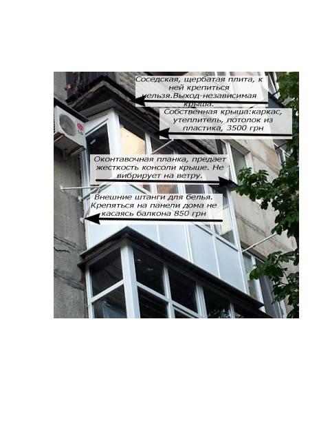 Установка, собственной крыши, утепление минватой.Установка бельевых штанг (для сушки белья вне балкона)