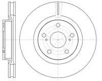 Тормозной диск передний Roadhouse RH 61189.10 для Toyota Camry (Mcv3, Acv3, Xv3) 01.2006-11.2006