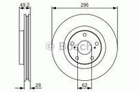 Тормозной диск передний Bosch 986479R33 для Toyota Camry Седан (Gsv4, Xv4) 09.2009-09.2011