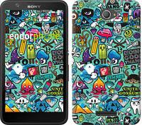 """Чехол на Sony Xperia E4 Dual Стикер бомбинг 1 """"693c-87"""""""